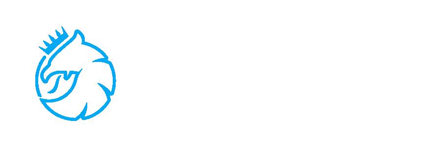 Blue Griffin Horizontal (Simple Color White)@2x